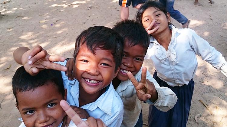 Children attending the elementary school