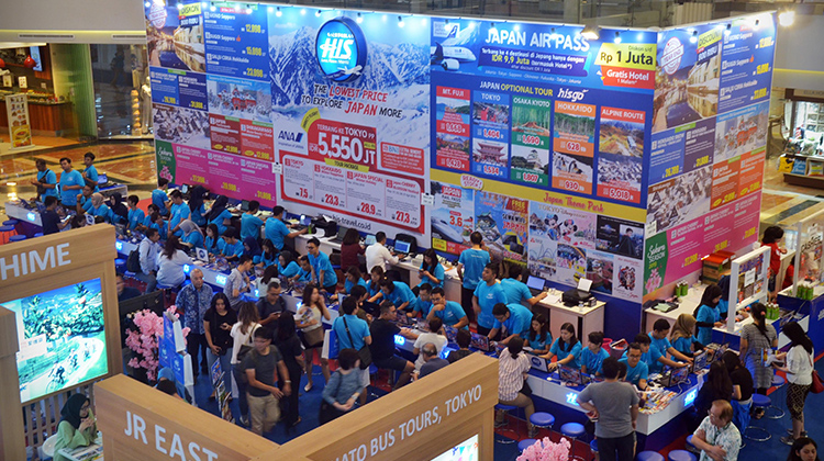 Cool Japan Travel Fair in Jakartaの様子